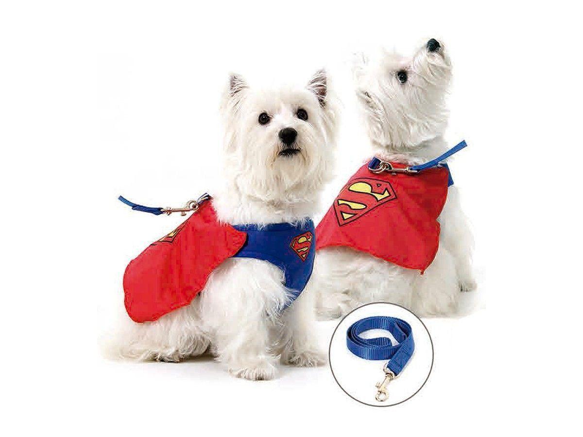 Kit Coleira Peitoral AirMesh + Guia Superman™ para Cachorros