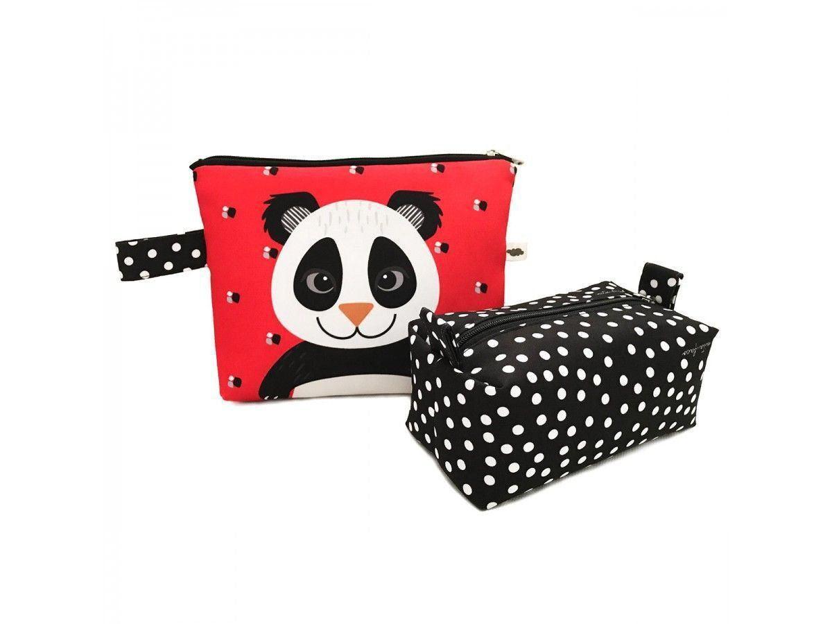 Kit Necessaire + Estojo Panda Peter