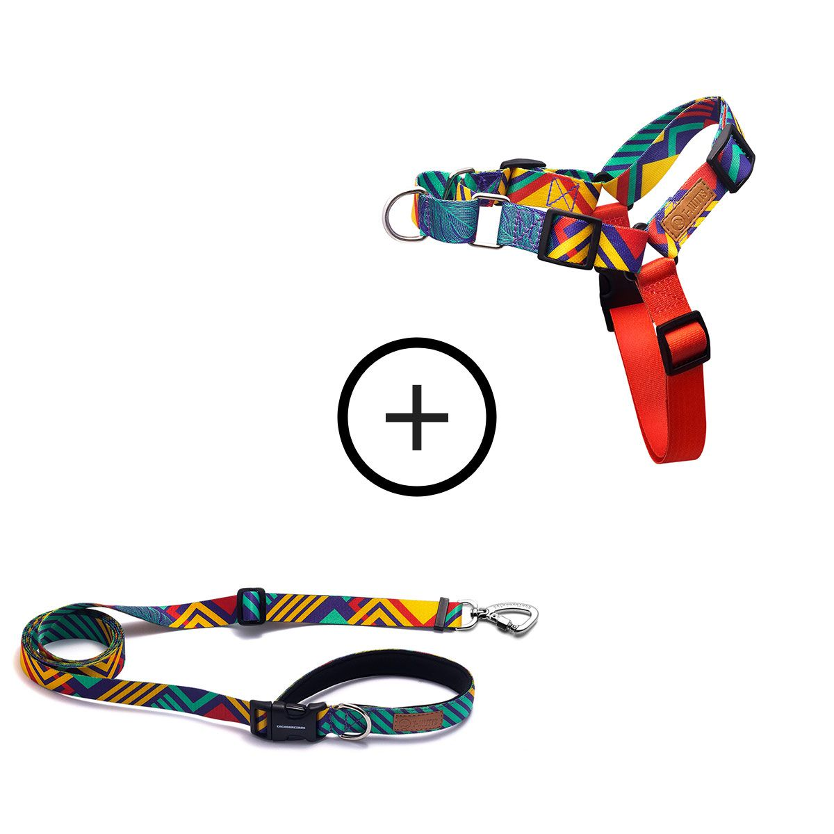 Kit para Correr: Peitoral Anti-Puxão + Guia Running T-Mutts