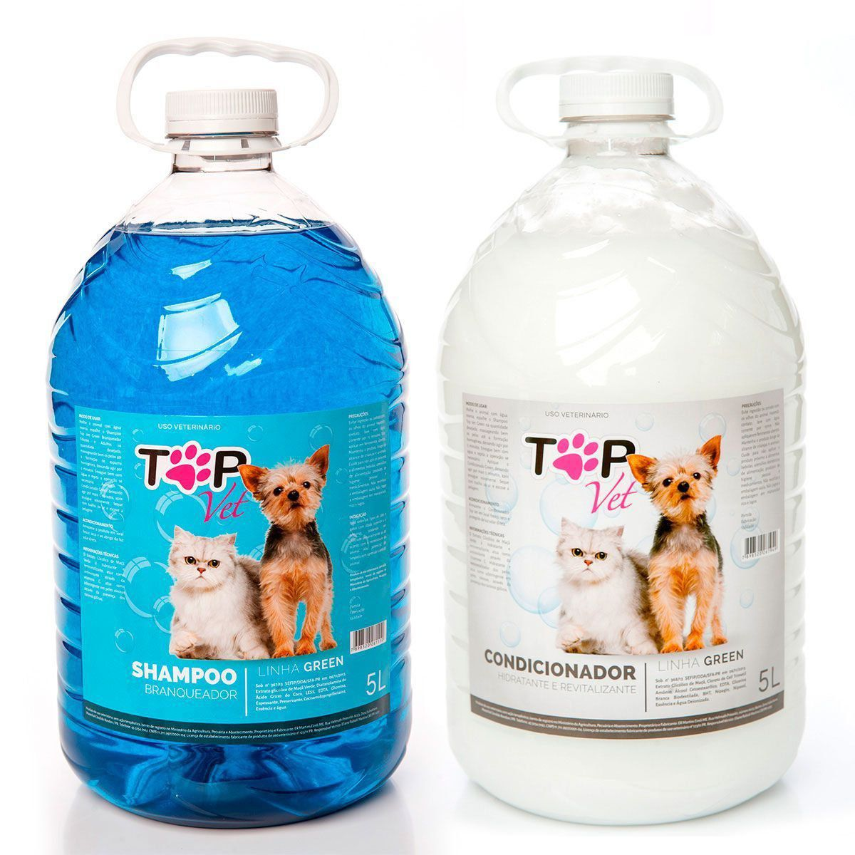 Kit Shampoo Branqueador e Condicionador Green Top Vet
