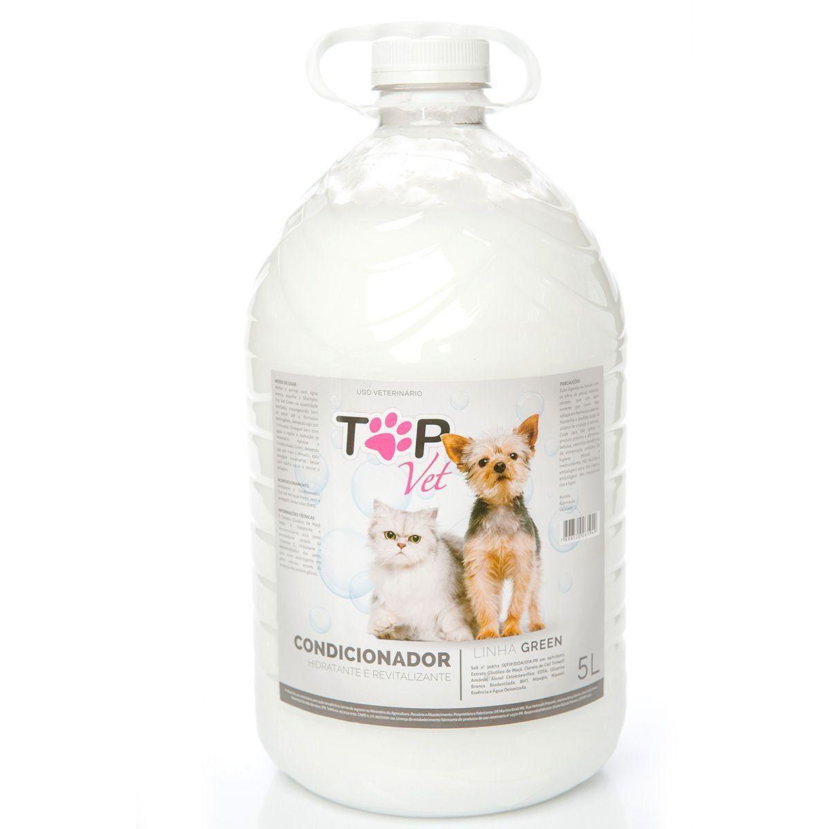 Kit Shampoo Neutro Maracujá e Condicionador Green Top Vet