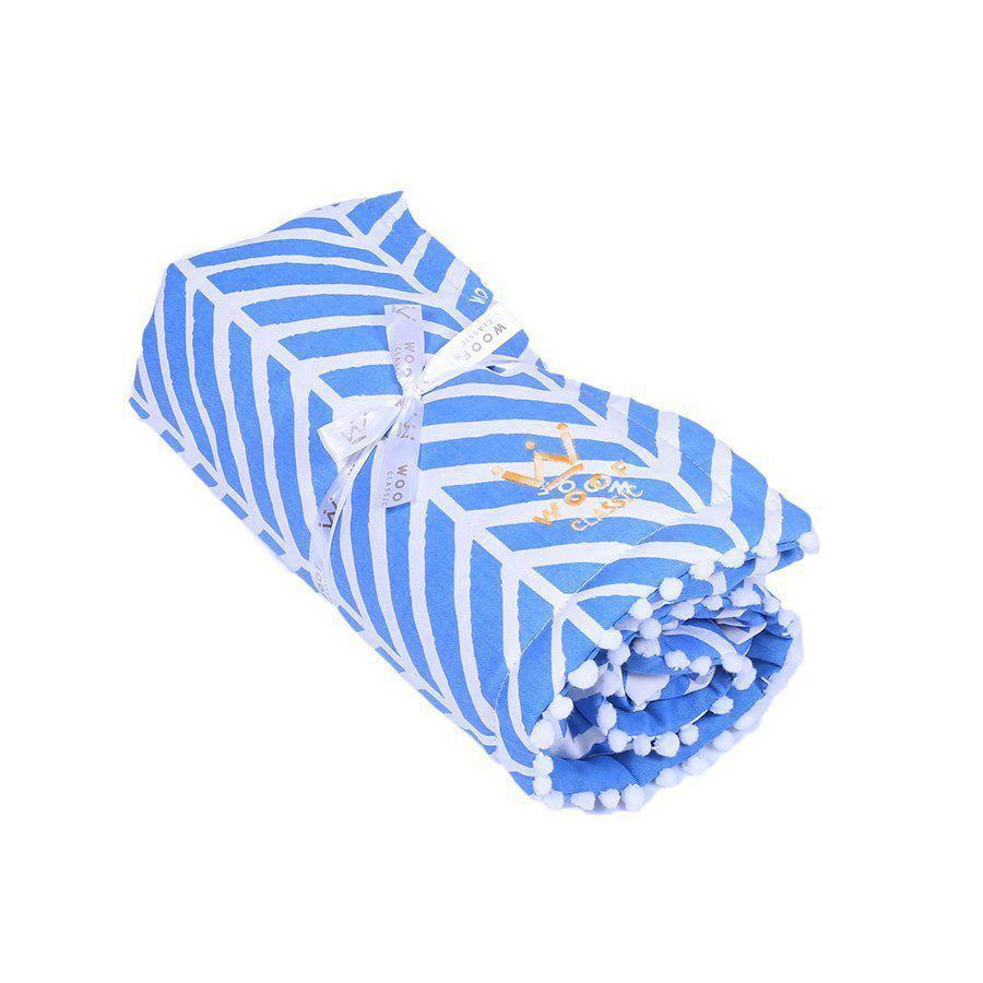 Manta Edredom Woof LLama Chevron Azul