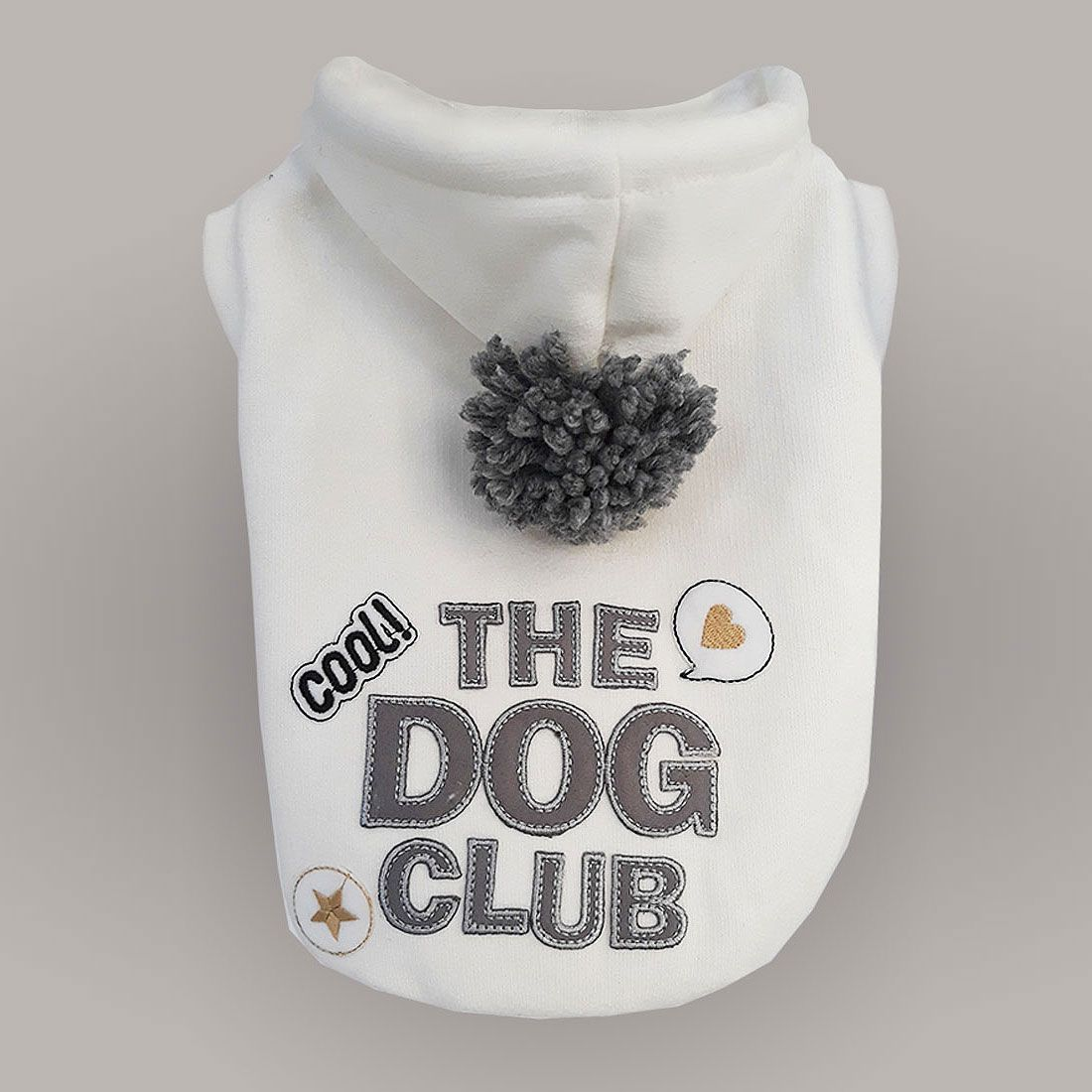 Moletom com Capuz para cachorro Off White Dog Club