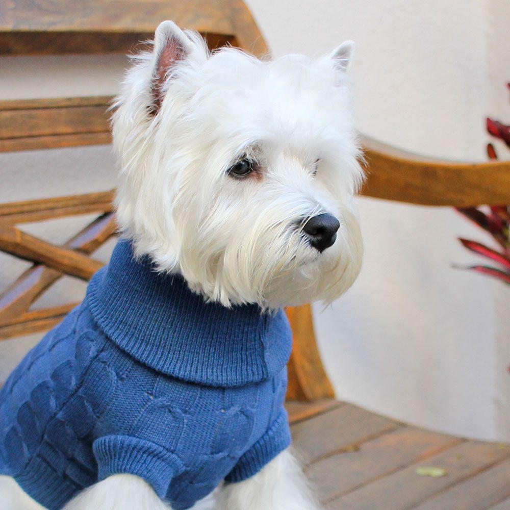Roupa de Tricô Jolie Tresse para cachorro Hello Pets