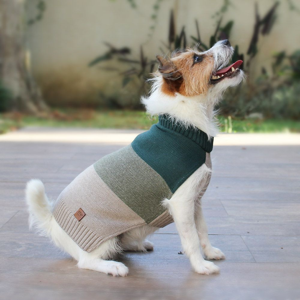 Roupa de Tricô Listrado para cachorro Hello Pets