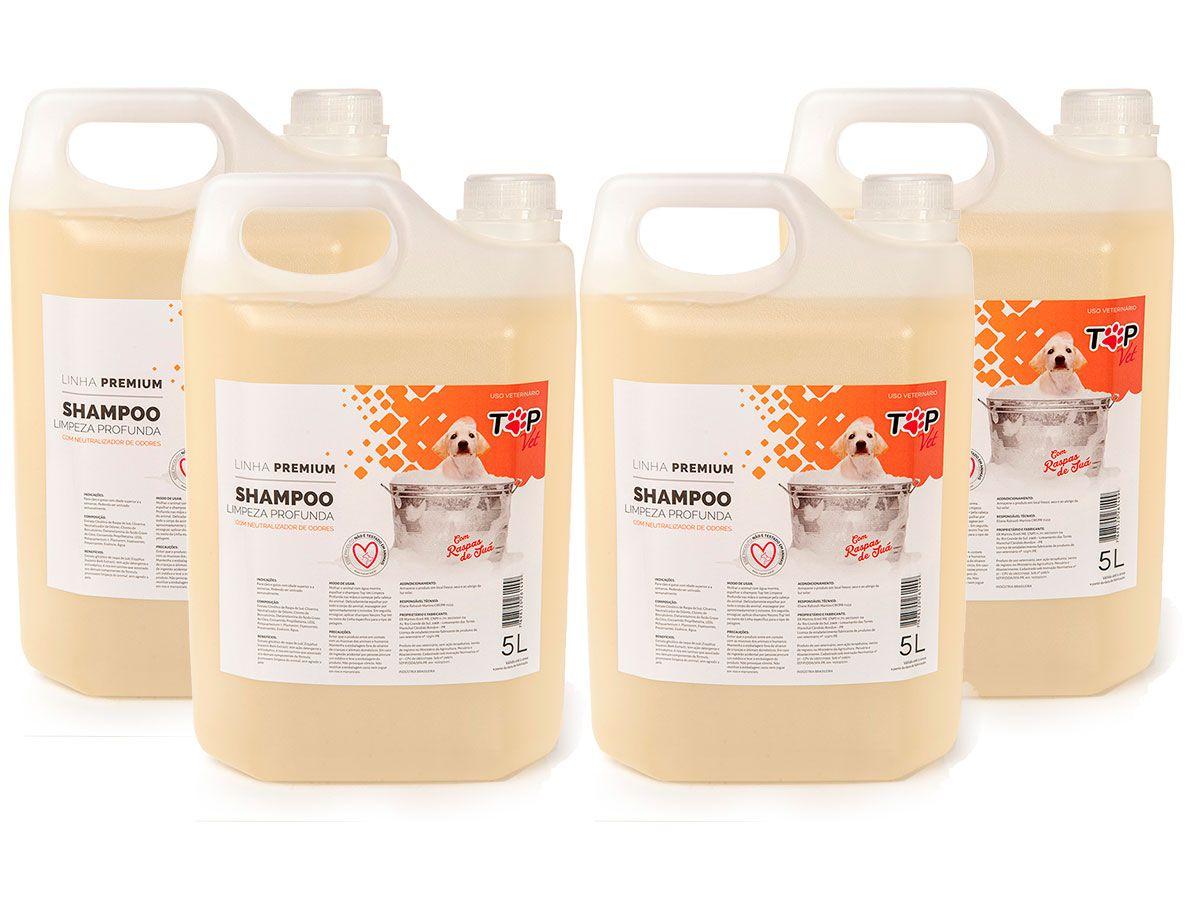 Shampoo Limpeza Profunda Premium Top Vet 5L