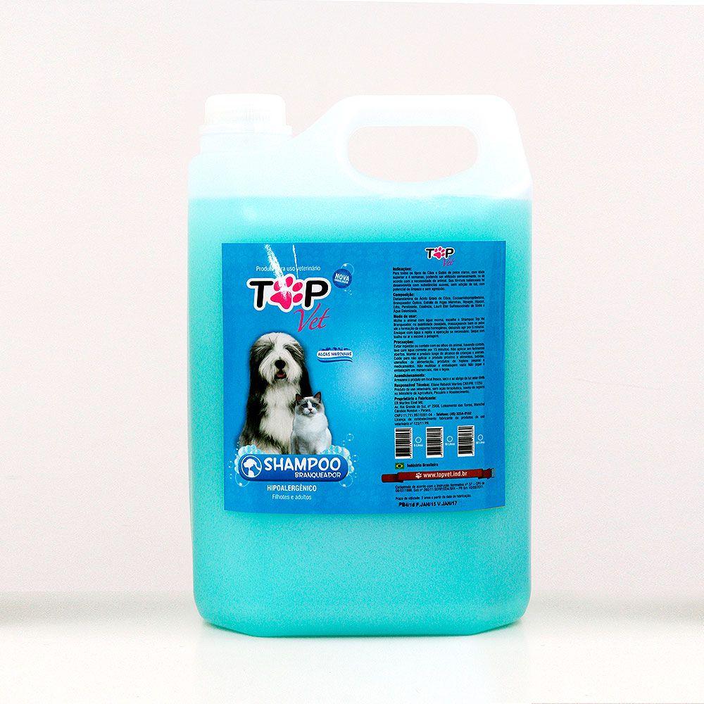 Shampoo Top Vet Branqueador Premium 5L