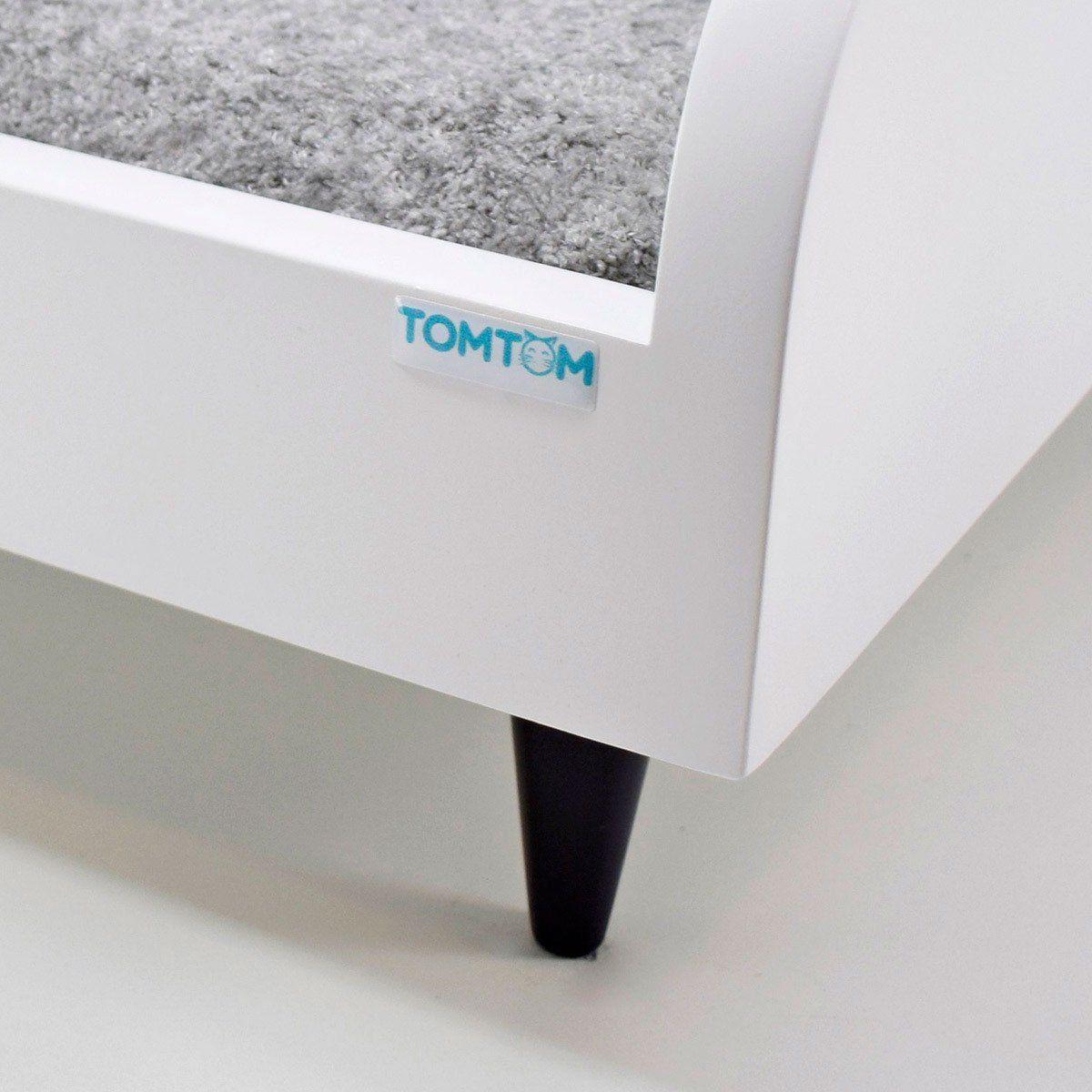 Sofá para Cachorro Tomtom Pet Branco com Almofada Cinza - M
