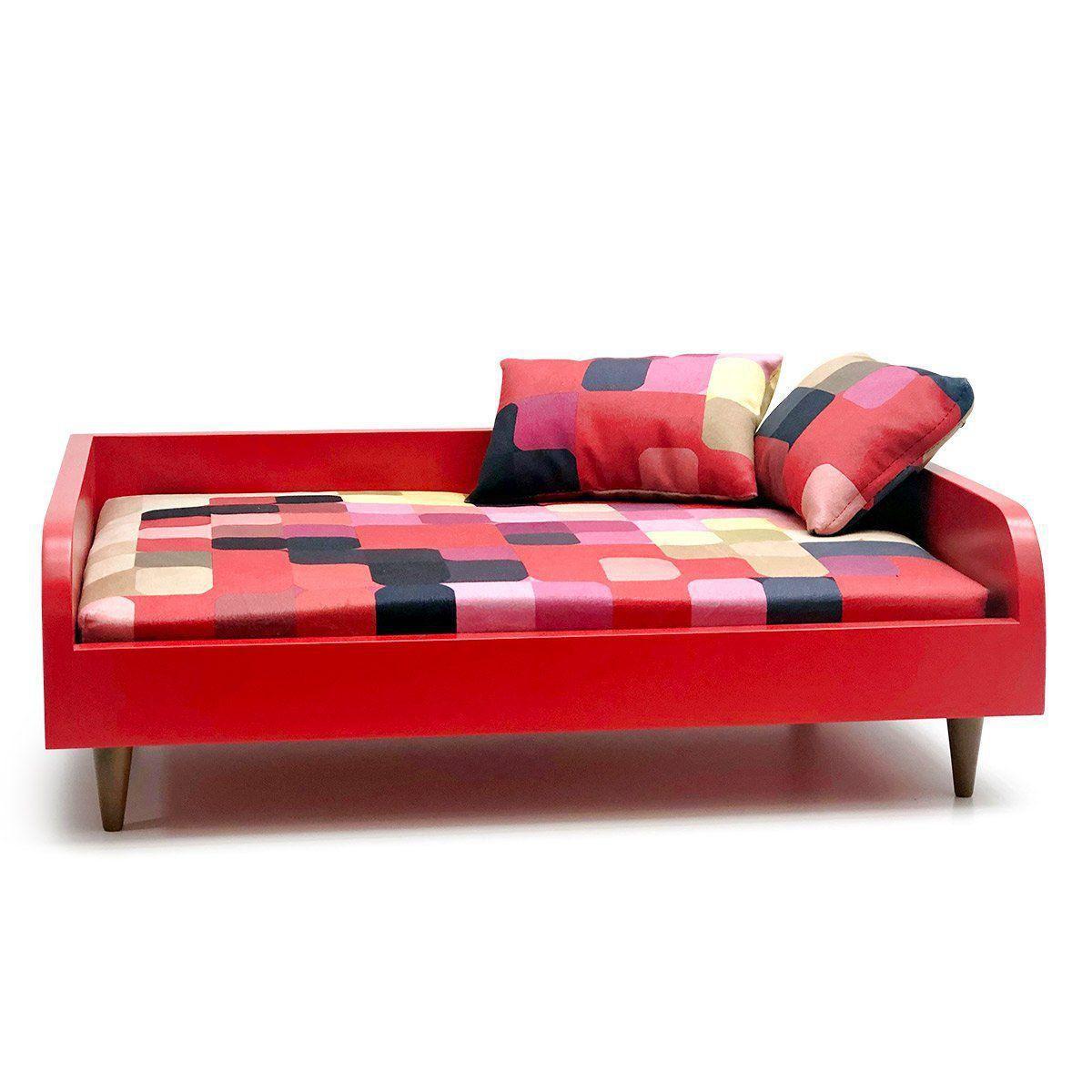 Sofá para Cachorro Tomtom Pet Especial Vermelho Pixel