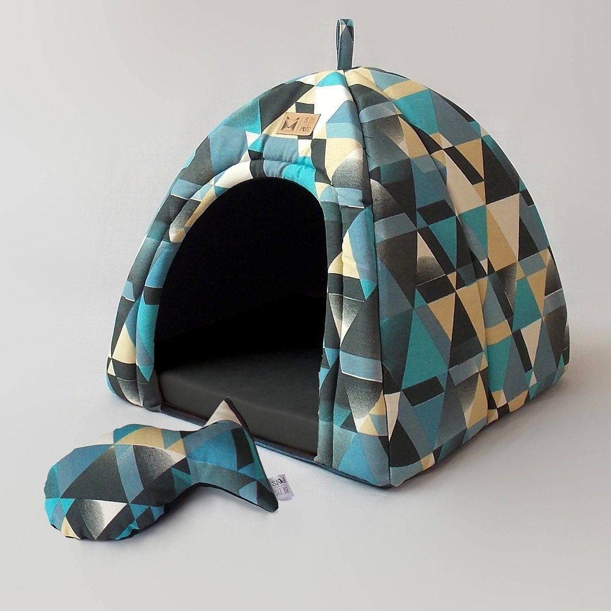 Toca Iglu para Cachorro Posh Blue Beds for Pets
