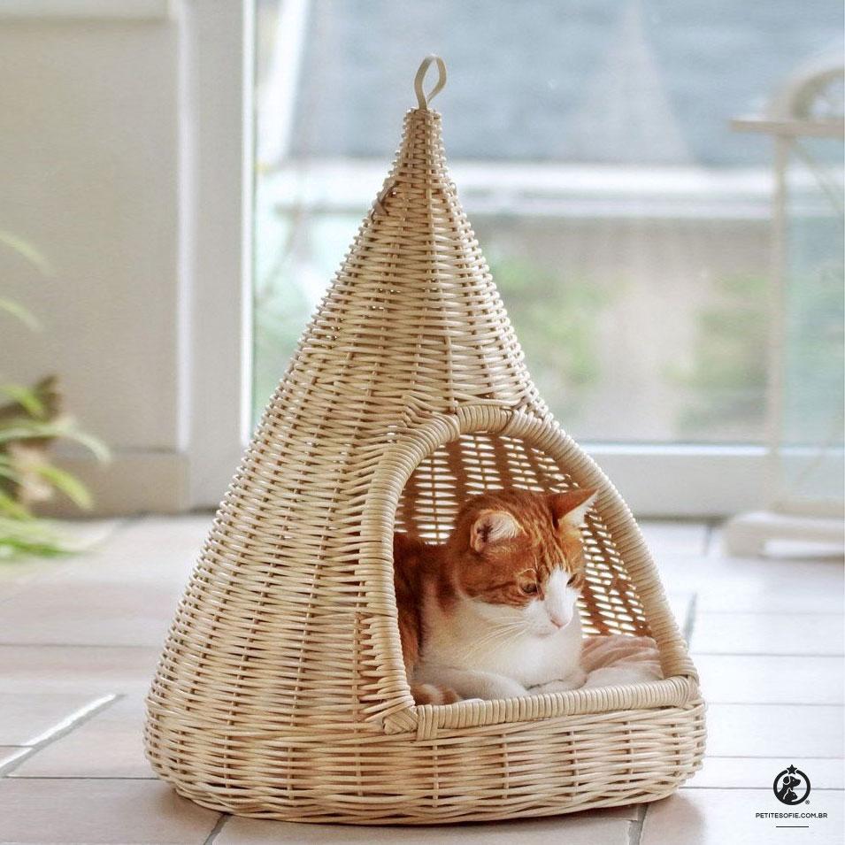Toca para Gatos Artesanal de Luxo Chaise Aspen