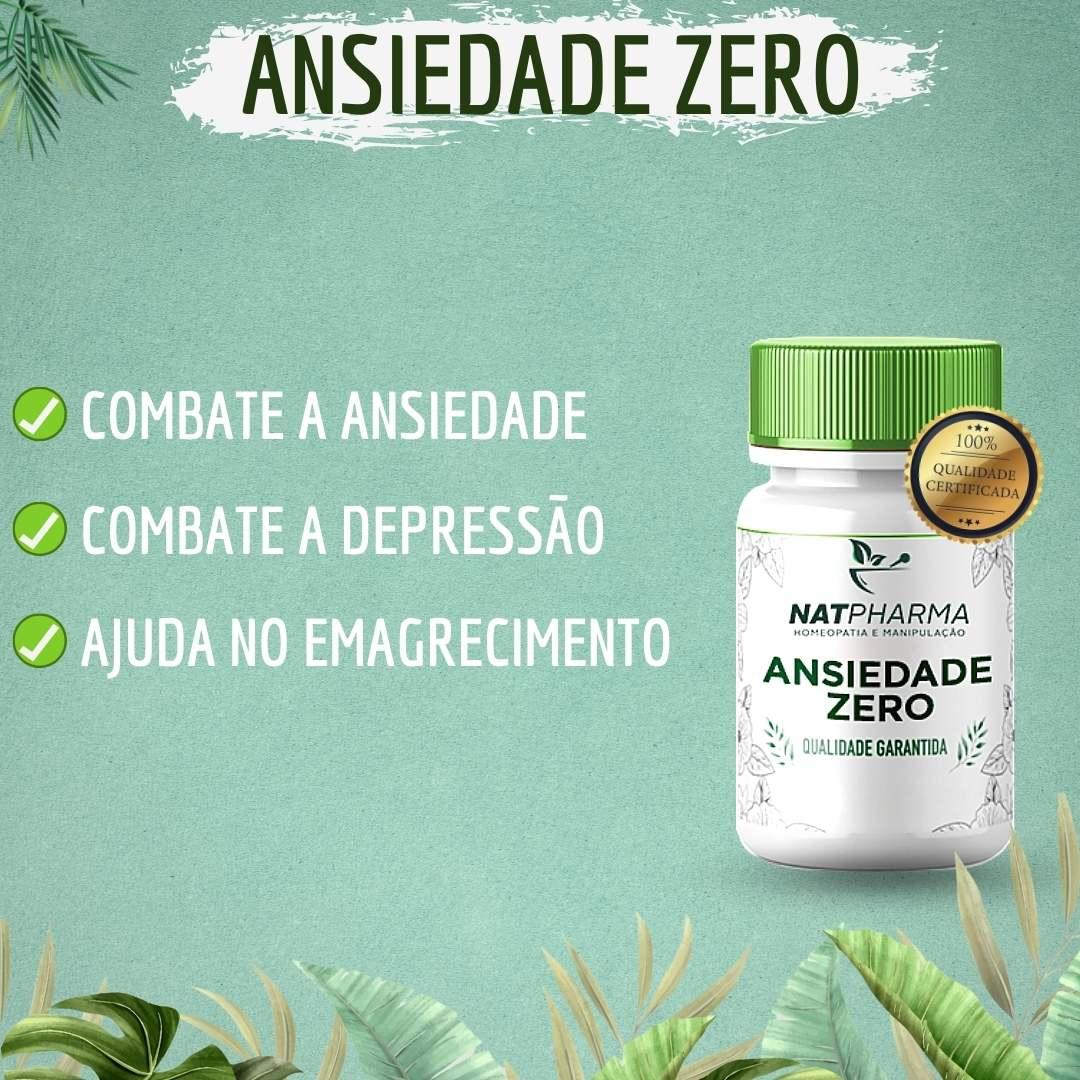 Ansiedade ZERO - Combate a ansiedade, depressão, stress e irritabilidade - 60 caps