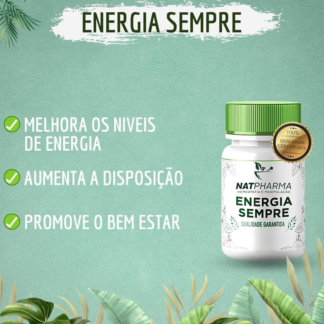 Energia SEMPRE - Melhora a energia para o dia a dia - 30 caps