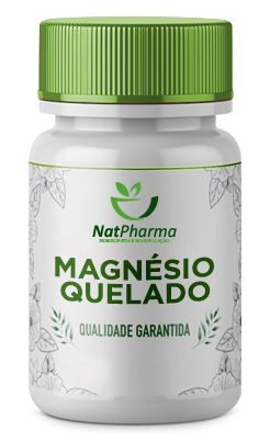 Magnésio Quelado 10mg - 60 caps