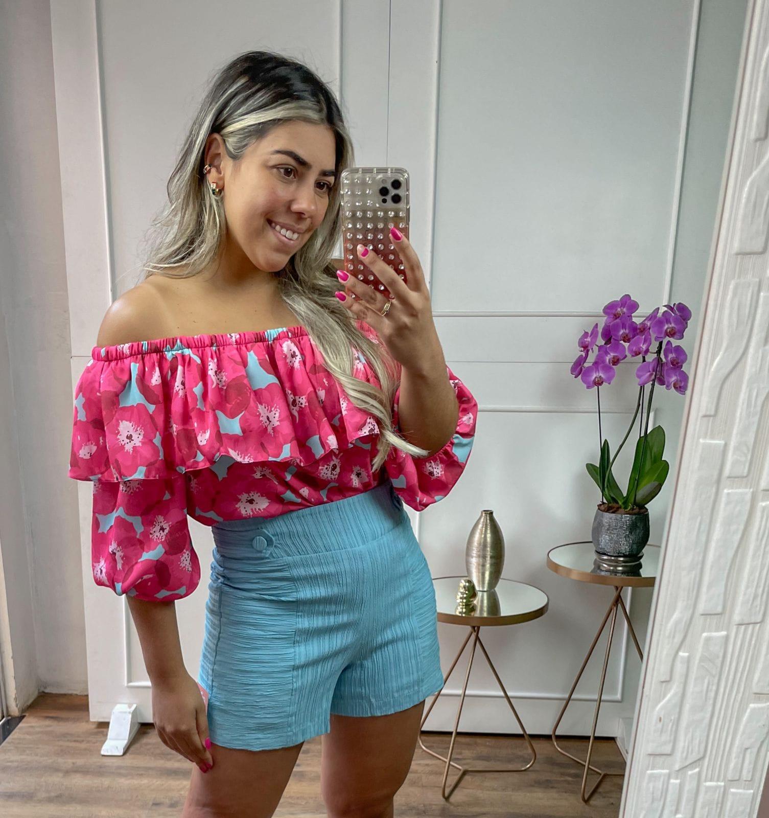 Shorts Giuliana- Azul