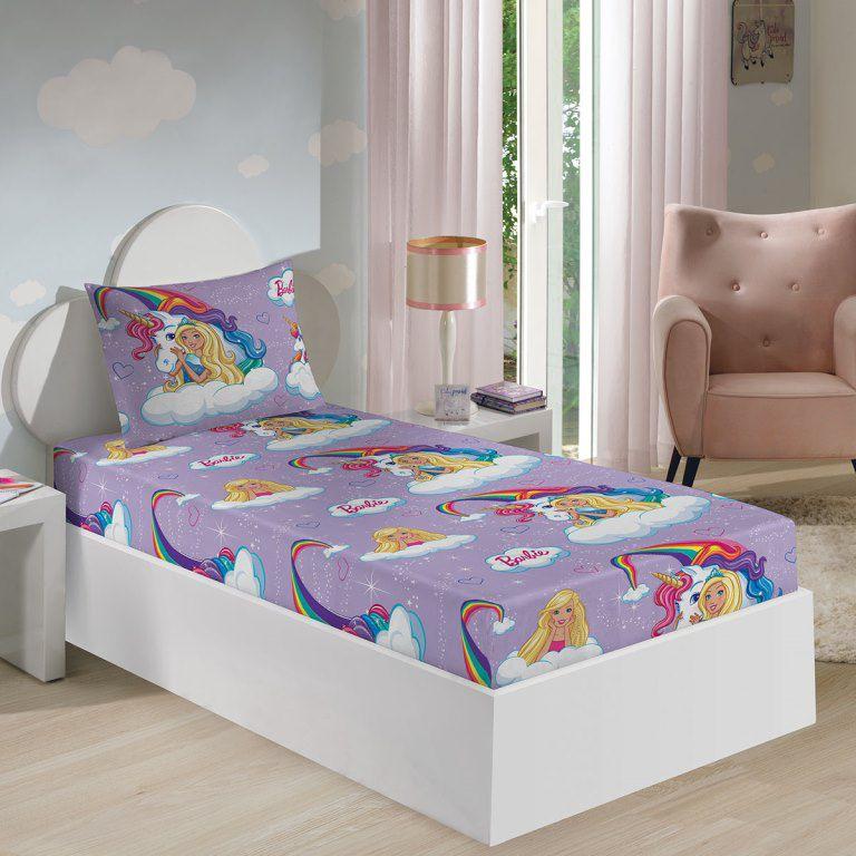 1d190da8a3 Jogo de Cama Barbie Reinos Mágicos Com 2 peças - lençol com elástico