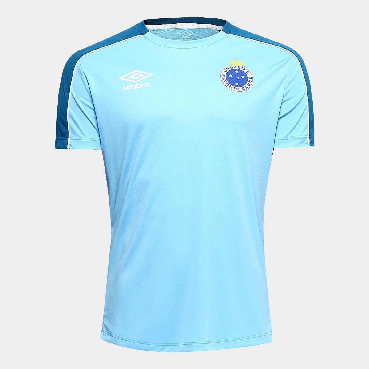 31fa59cd6adb4 Camisa Cruzeiro 2019 Treino Umbro Masculina - Azul e Branco - Point ...