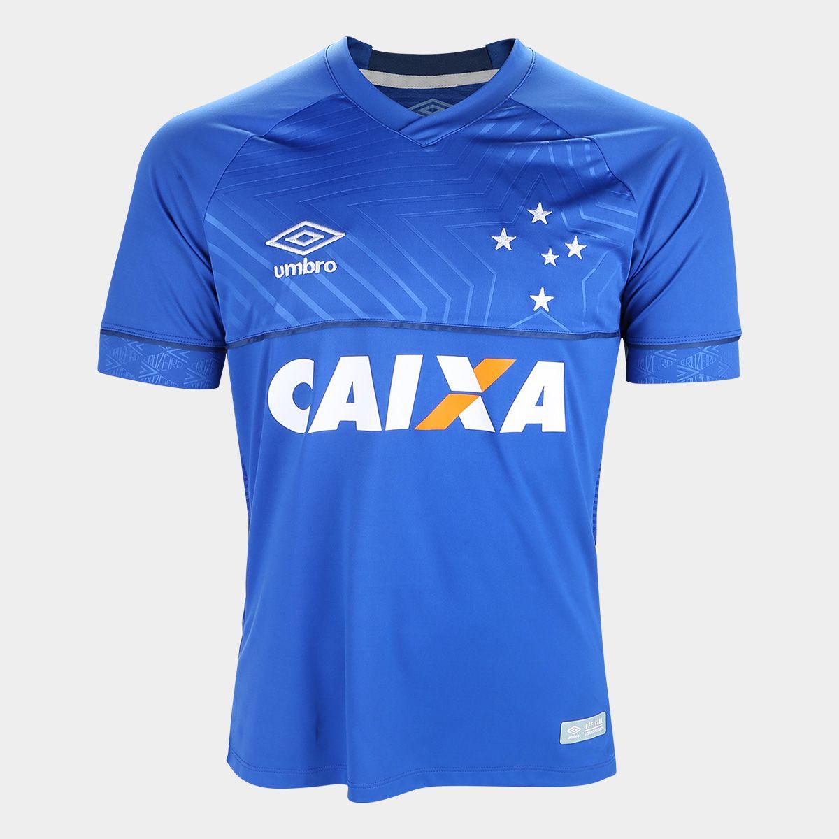 Camisa Cruzeiro I 18 19 s n° C  Patrocínio - Torcedor Umbro ... 8c47b1a51c3db