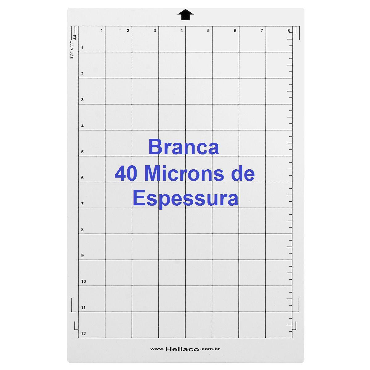 95bba4f962c62 Base de corte para Silhouette Portrait A4 BRANCA COM Cola - 40mm espessura