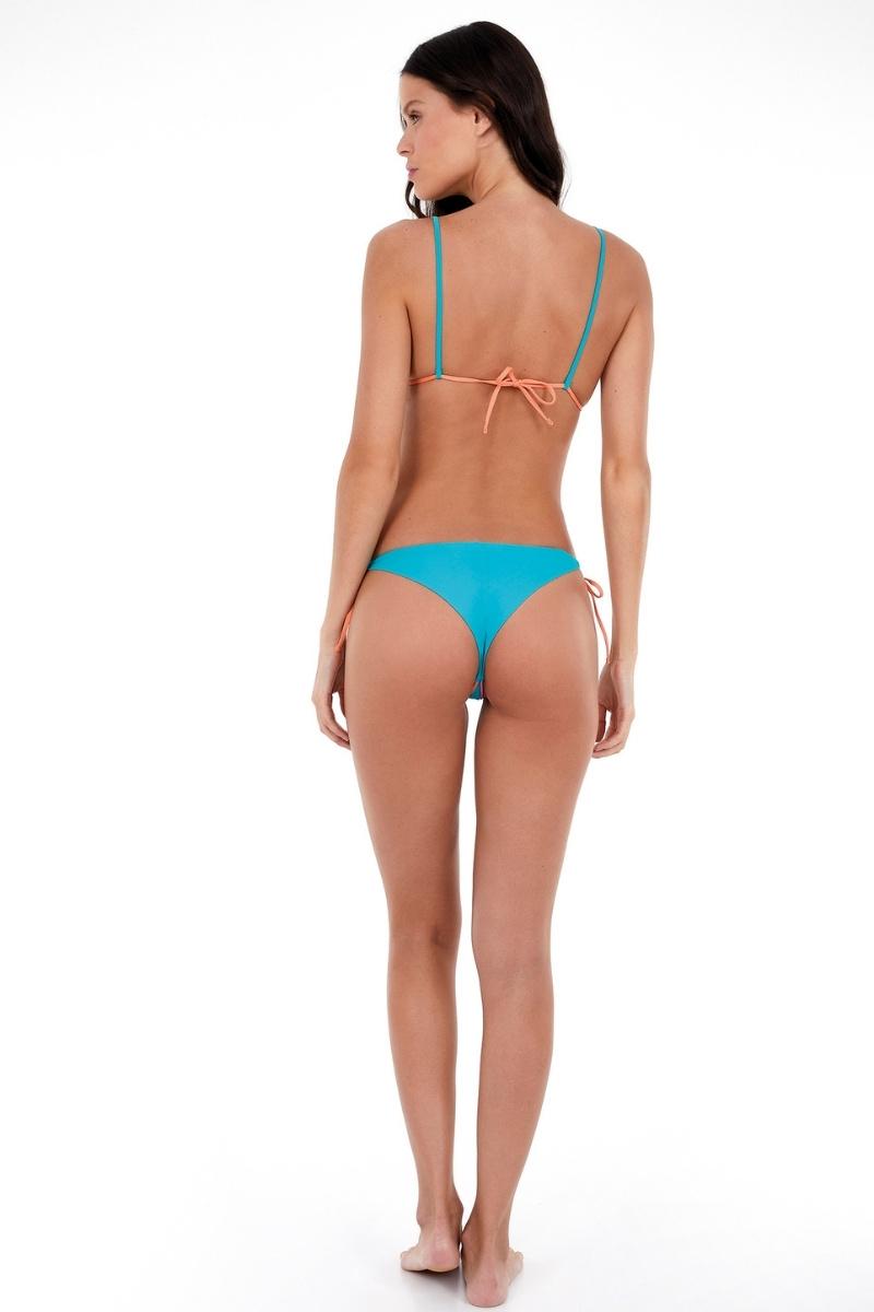 Biquini Cortininha Multicolors Azul Turquesa Fax 2137149 New Beach
