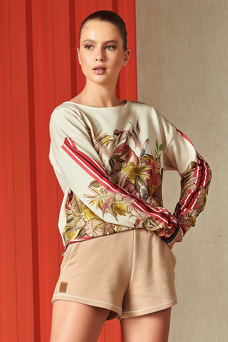 Blusa De Moletom Feminino Estampado Nara 0405700130 Colcci By Colcci