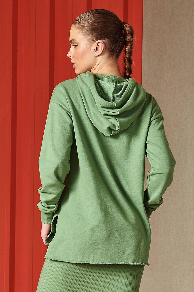 Blusa Moletom Feminino Com Capuz Verde Slot 0405700115 Colcci By Colcci