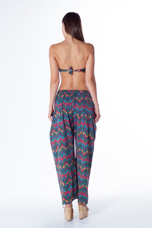 Calça Pantalona Com Bolso Lua 3093821 Morena