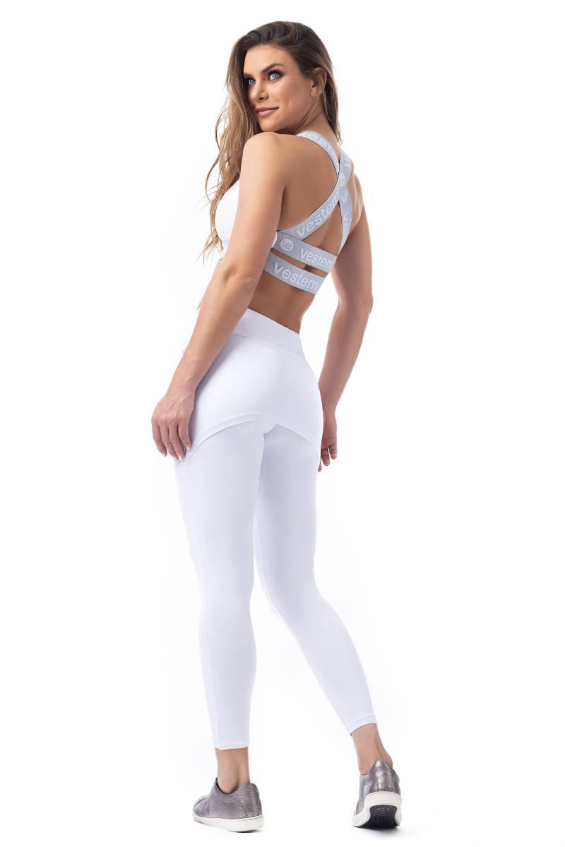 Legging Com Tapa Bumbum Branco Fs61 Vestem