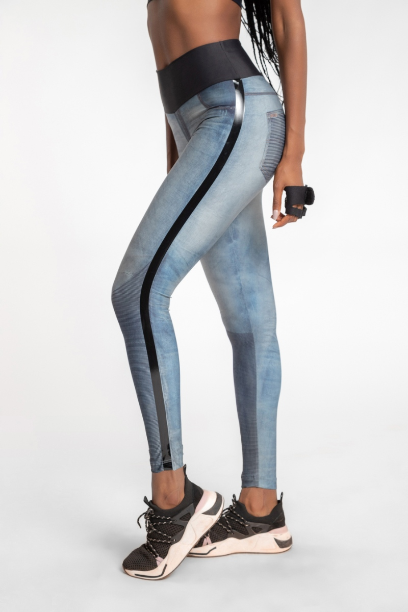 Legging Denim Cool Stripe Jeans 83956 Live