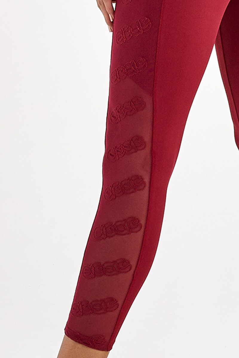 Legging Hyper Bordado Lateral Vermelho Power 2112340 Alto Giro