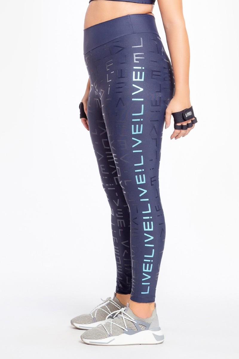 Legging Live! Icon Lux Azul 83937 Live