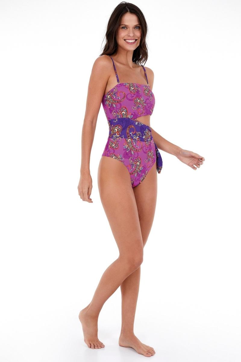 Maio Hotpants Fio Duplo Estampado Luna 2137212 New Beach