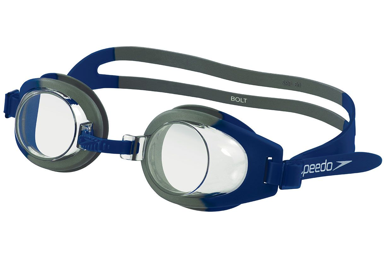 b4b2d4b5c Óculos de Natação Speedo Bolt Proteção Solar Antiembaçante Marinho Cristal