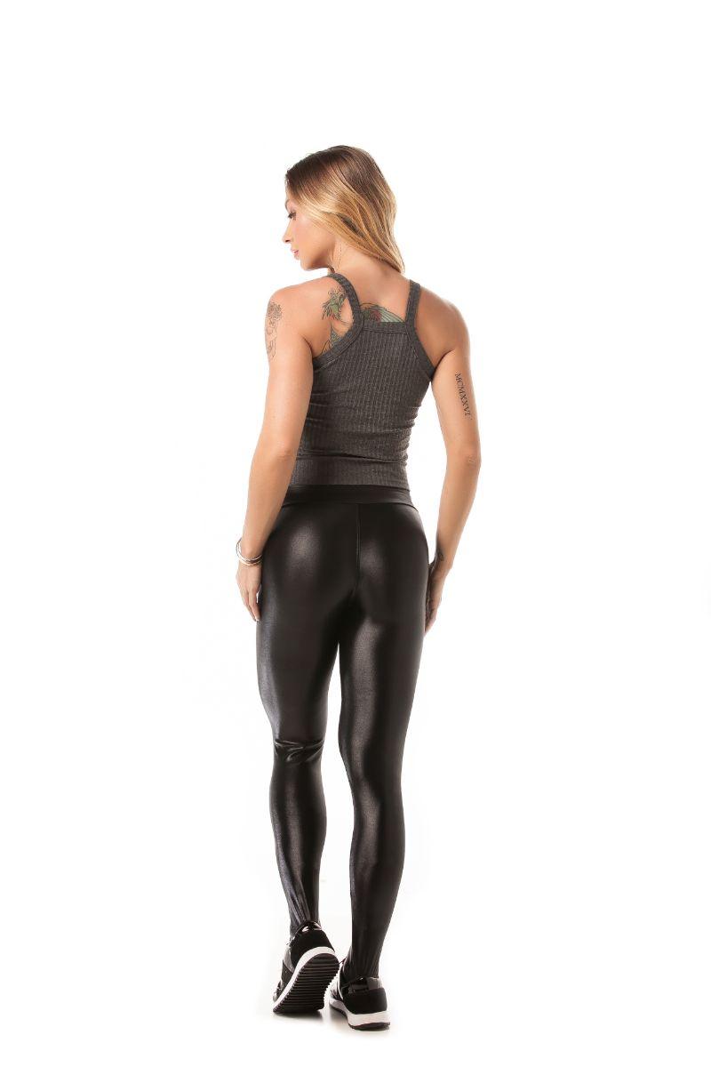 Regata Cropped Canelado Fit Mescla B1020a Lets Gym