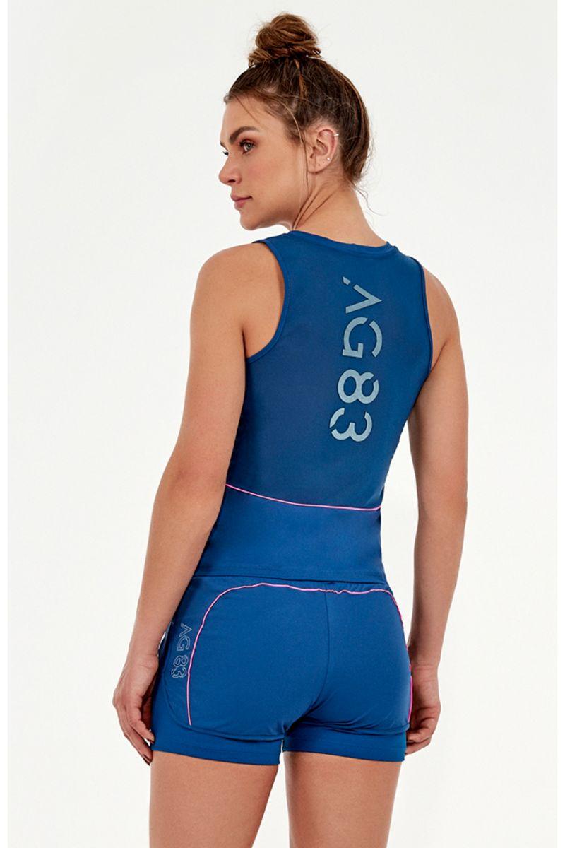 Regata Skin Fit Fusao Ag 83 Azul Moroccan 2032607 Alto Giro