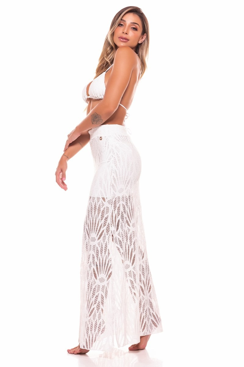 Saia Longa Florence Off White Sp51 Vestem