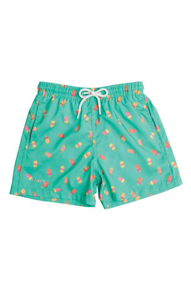 Short Infantil Picole Verde Claro 619.13 Mash