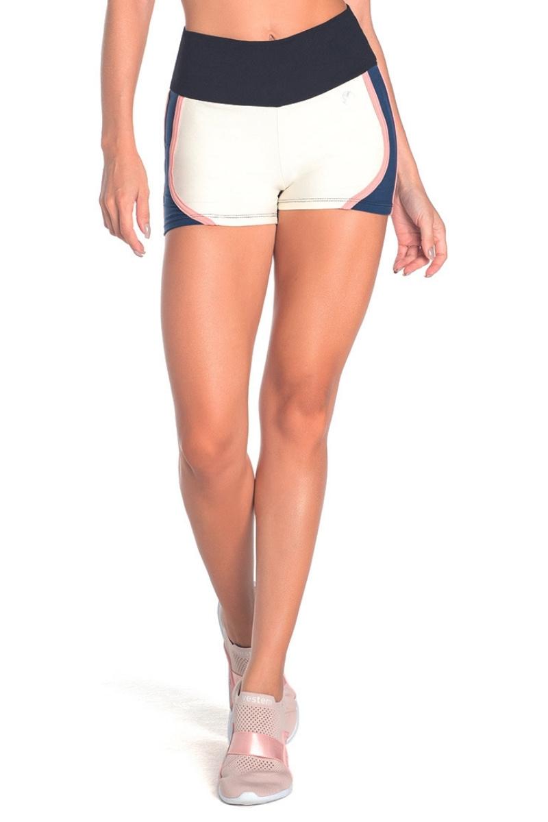 Shorts Bicolor Marinho Com Branco Off White Sh340 Vestem
