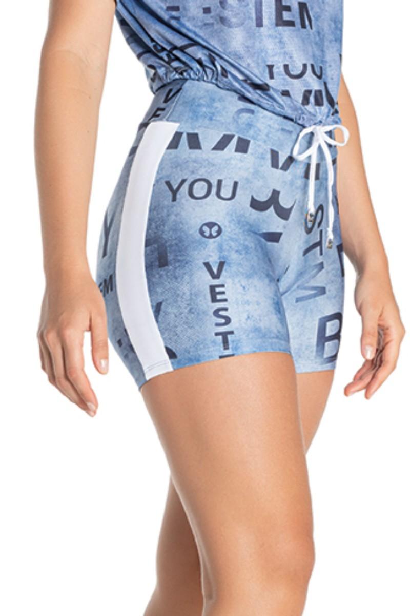 Shorts Empina Bumbum Talita Azul Sh316 Vestem