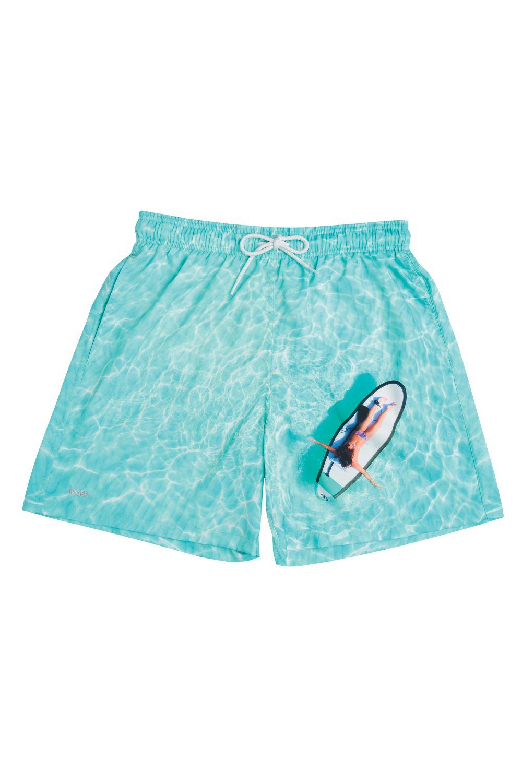 Shorts Estampado Barcos Azul Claro 613.37 Mash