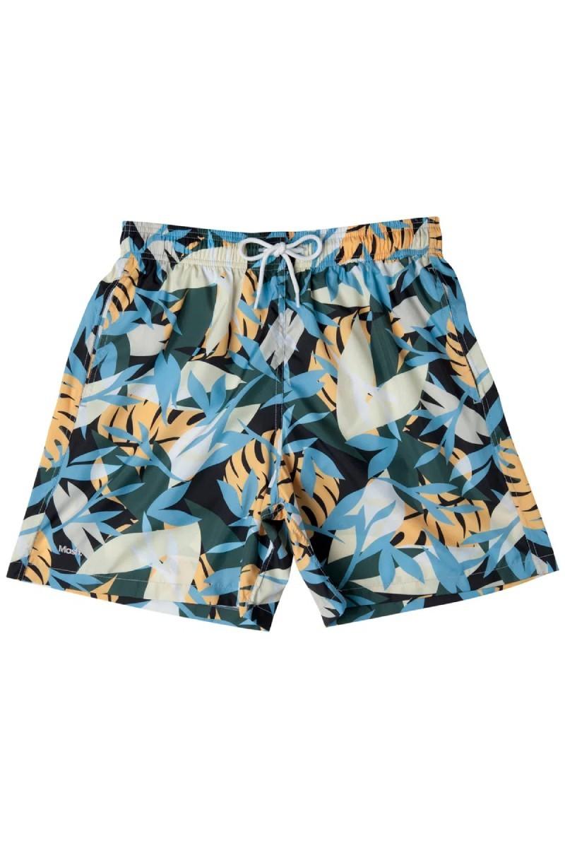Shorts Estampado Folhagem Azul Claro 613.48 Mash