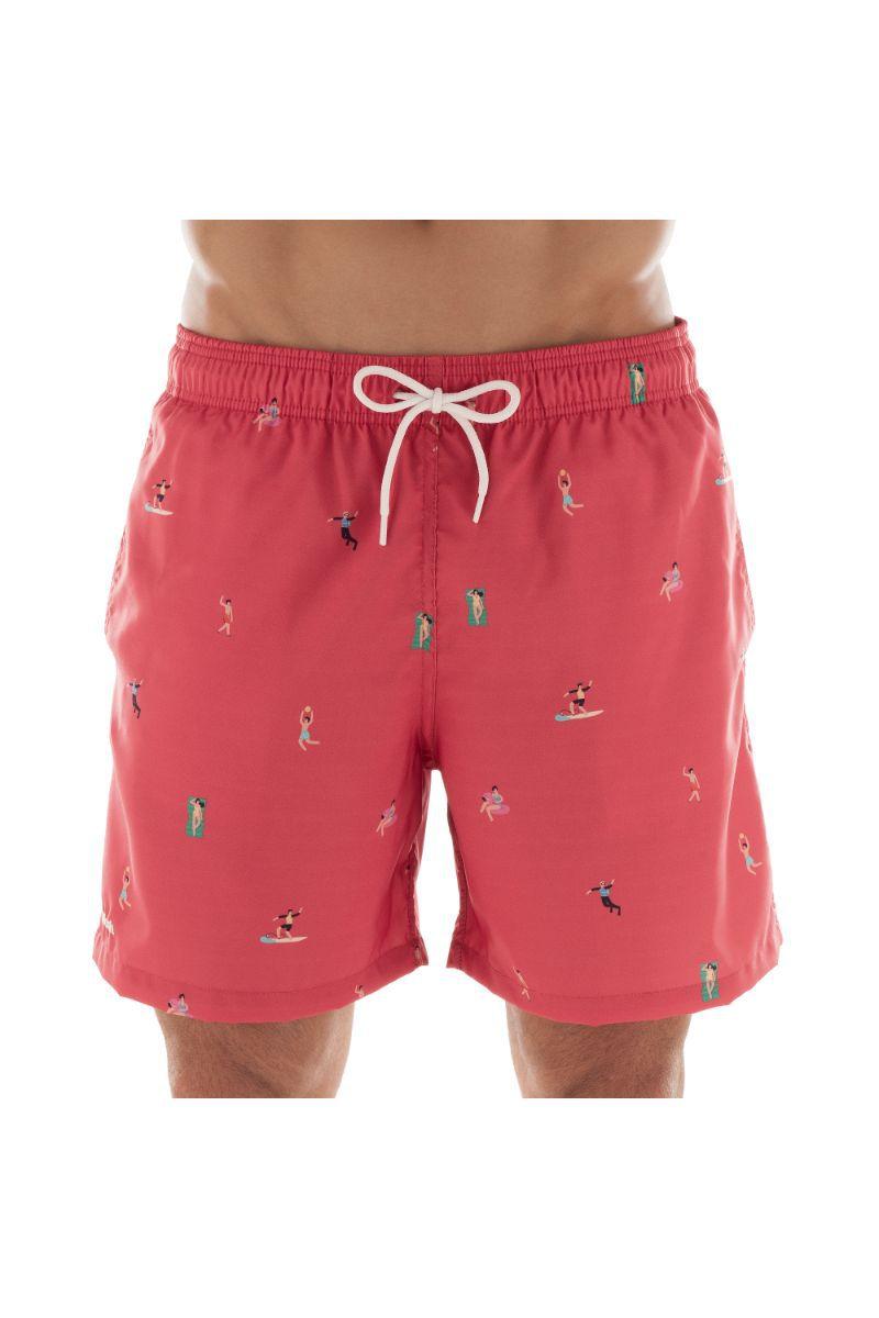 Shorts Estampado Fun Vermelho Claro 613.31 Mash