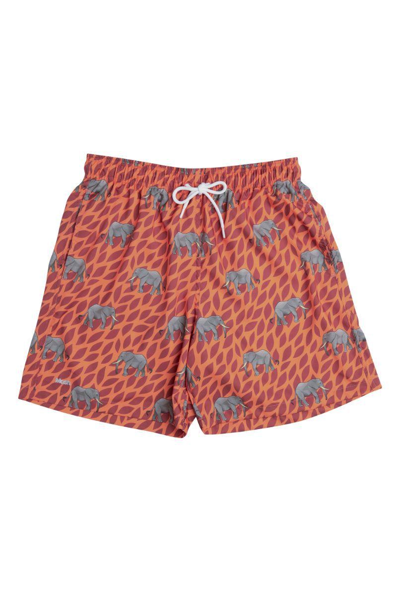 Shorts Estampado Selva Laranja 613.34 Mash