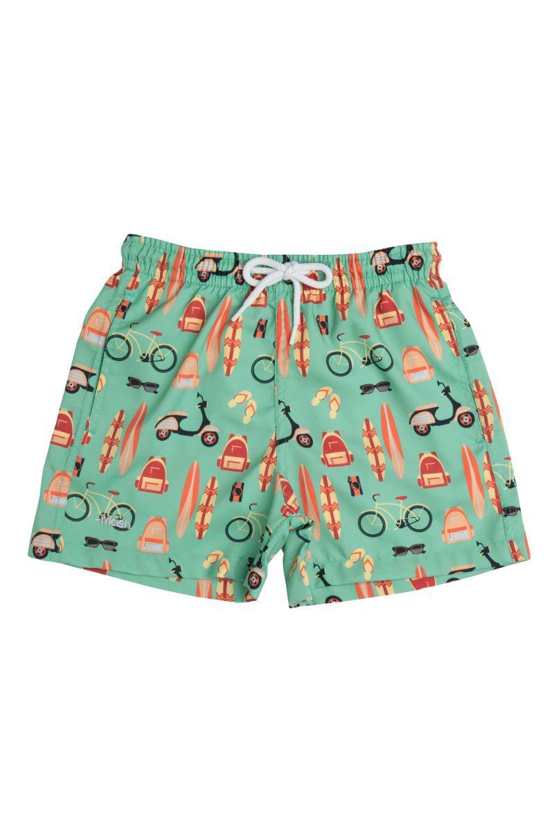 Shorts Infantil Estampado Praia Verde 619.16 Mash