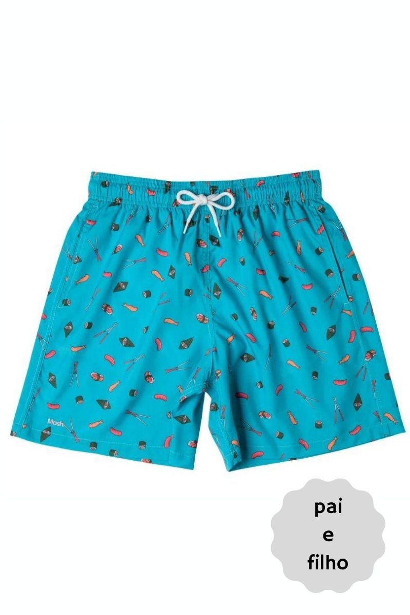 Shorts Infantil Foods Azul Claro 619.23 Mash