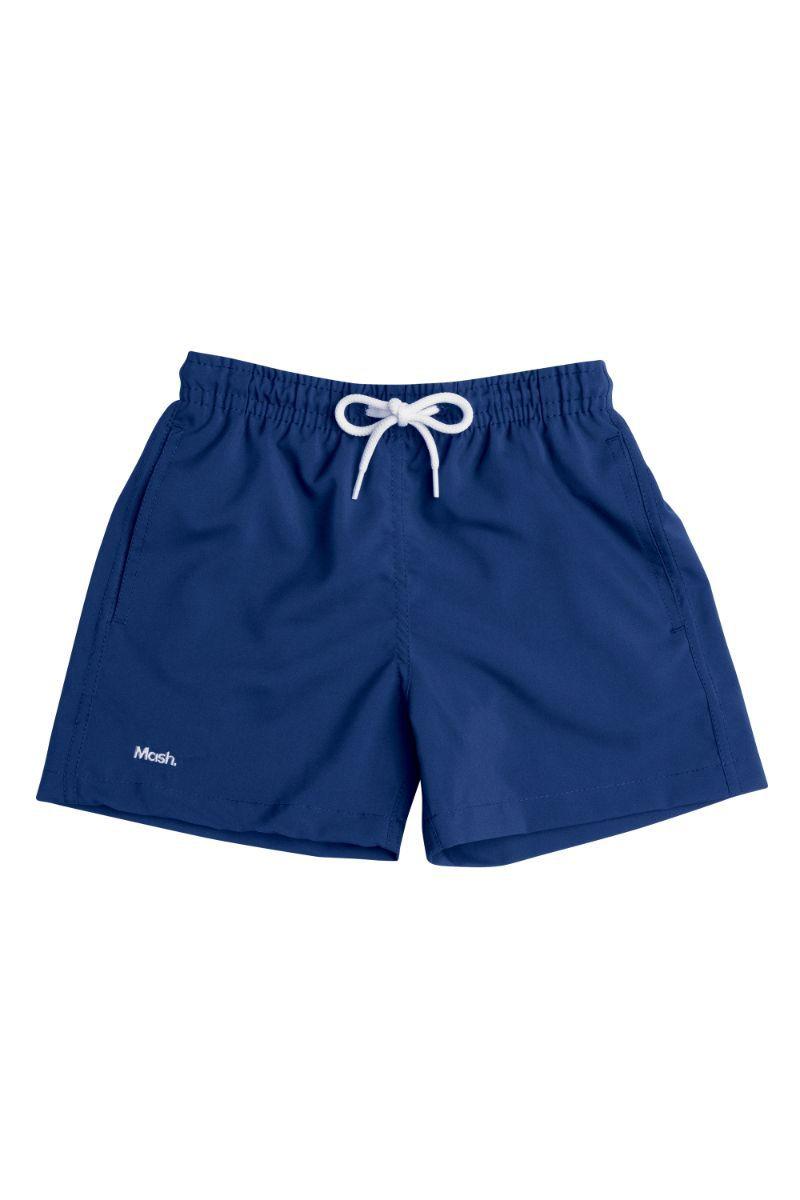 Shorts Liso Infantil Azul Escuro 619.01 Mash