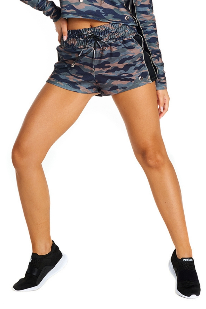 Shorts Melody Camuflado Verde Sh333 Vestem