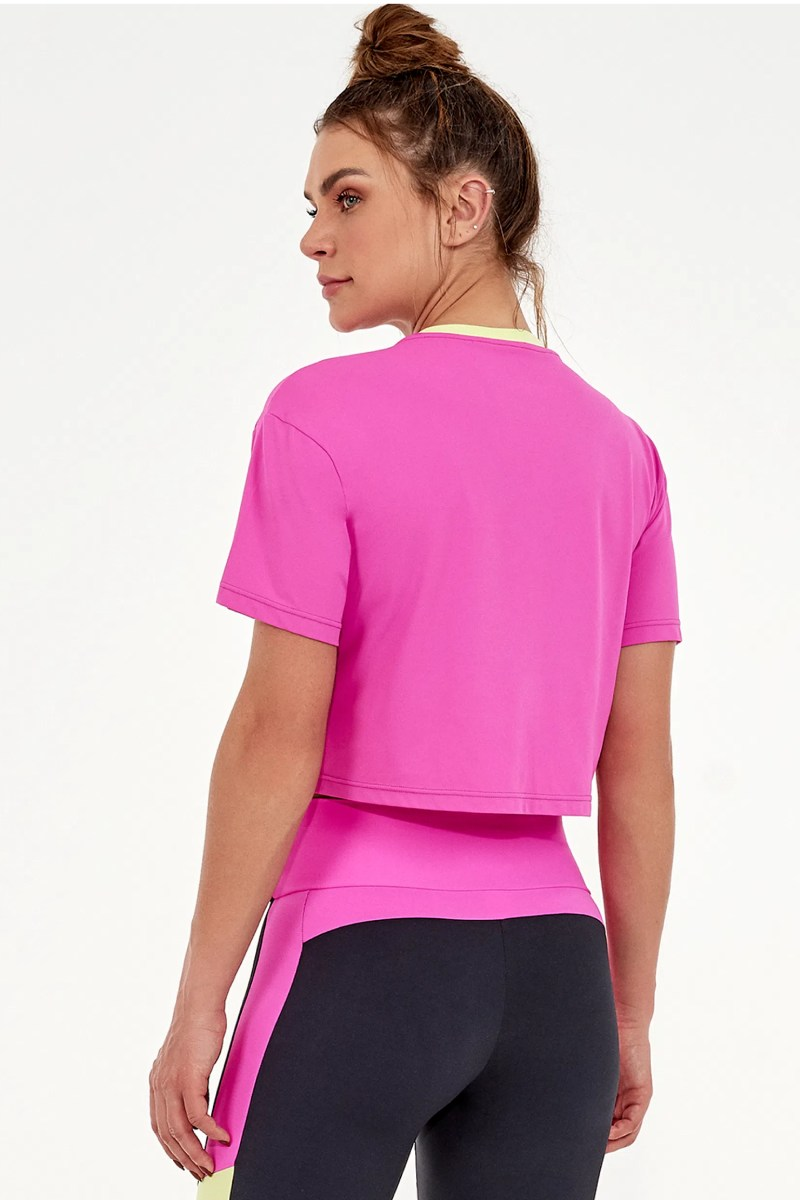 T-shirt Cropped Sabrina Sato Pink Charm 2031717 Alto Giro