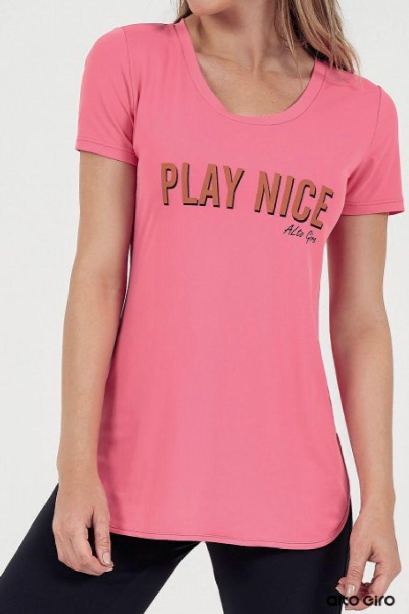 T-shirt Skin Fit Inspiracional 911703 Alto Giro
