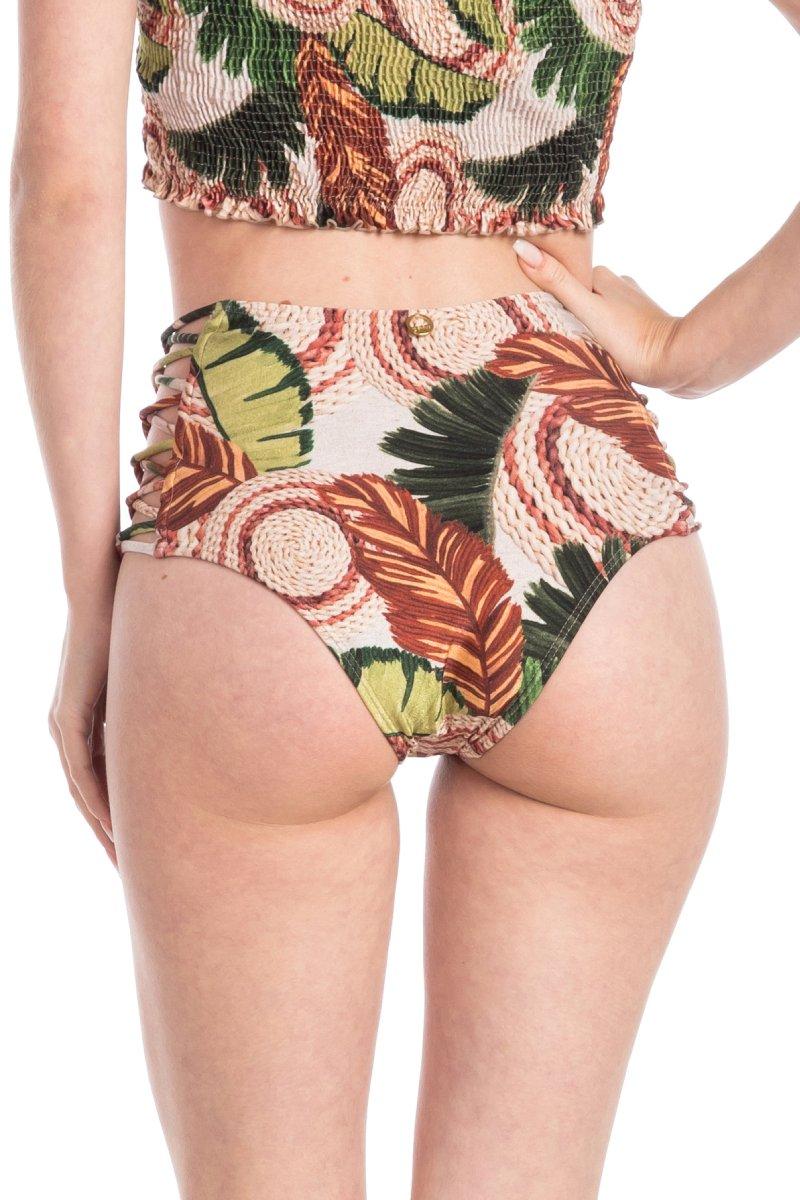 Tanga Hot Pants Tiras Cruzadas Estampado Feito A Mão 21945053 La Playa